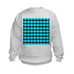 Blue Optical Illusion Kids Sweatshirt