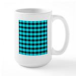 Blue Optical Illusion Large Mug