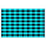 Blue Optical Illusion Large Poster