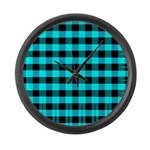 Blue Optical Illusion Large Wall Clock