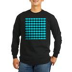 Blue Optical Illusion Long Sleeve Dark T-Shirt