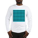 Blue Optical Illusion Long Sleeve T-Shirt