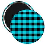 Blue Optical Illusion Magnet