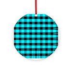 Blue Optical Illusion Ornament (Round)