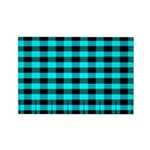Blue Optical Illusion Rectangle Magnet (10 pack)