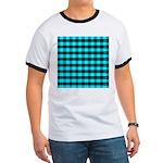 Blue Optical Illusion Ringer T