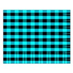 Blue Optical Illusion Small Poster