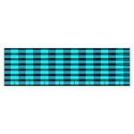 Blue Optical Illusion Bumper Sticker (10 pk)