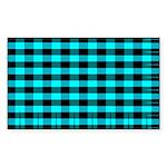 Blue Optical Illusion Rectangle Sticker