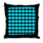 Blue Optical Illusion Throw Pillow