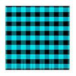 Blue Optical Illusion Tile Coaster