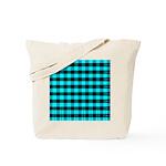 Blue Optical Illusion Tote Bag