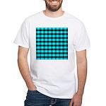 Blue Optical Illusion White T-Shirt