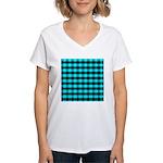 Blue Optical Illusion Women's V-Neck T-Shirt