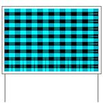 Blue Optical Illusion Yard Sign