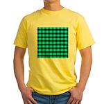 Blue Optical Illusion Yellow T-Shirt