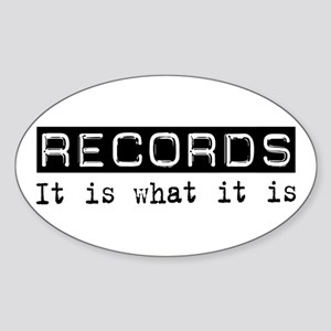 Records Is Oval Sticker