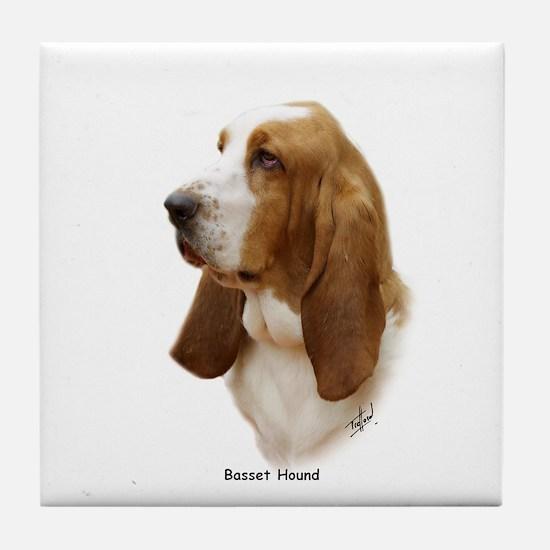 Basset Hound 9J055D-15 Tile Coaster