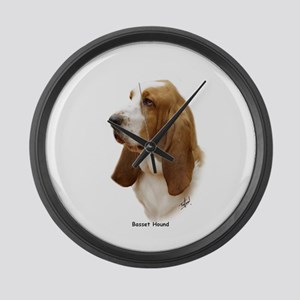Basset Hound 9J055D-15 Large Wall Clock