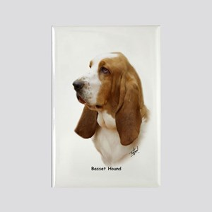 Basset Hound 9J055D-15 Rectangle Magnet