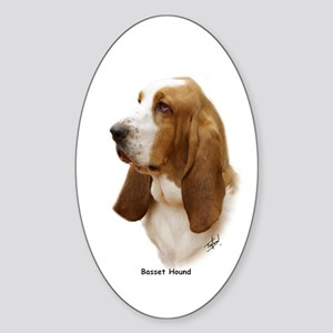 Basset Hound 9J055D-15 Sticker (Oval)