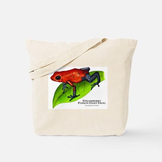 Strawberry Poison Dart Frog Tote Bag