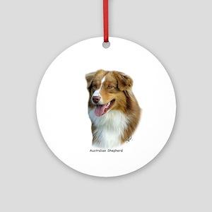Australian Shepherd 9K4D-16 Ornament (Round)