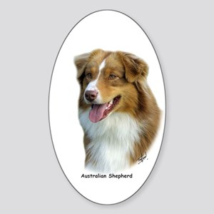 Australian Shepherd 9K4D-16 Sticker (Oval)