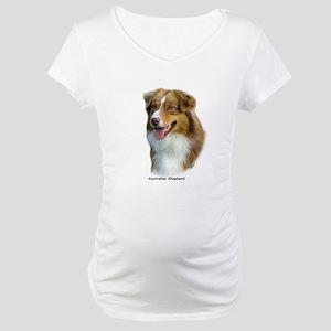 Australian Shepherd 9K4D-16 Maternity T-Shirt