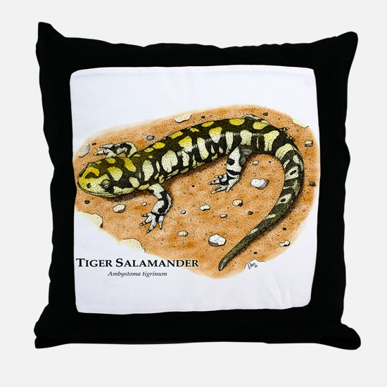 Tiger Salamander Throw Pillow
