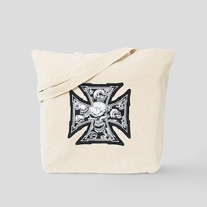 Iron Skulls Tote Bag