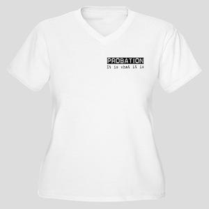 Probation Is Women's Plus Size V-Neck T-Shirt