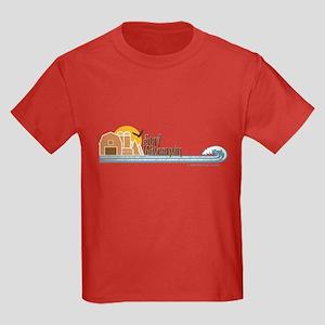 Surf Wisconsin Tan Kids Dark T-Shirt