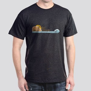 Surf Wisconsin Tan Dark T-Shirt