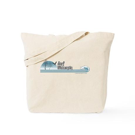 Surf Wisconsin (winter birch Tote Bag