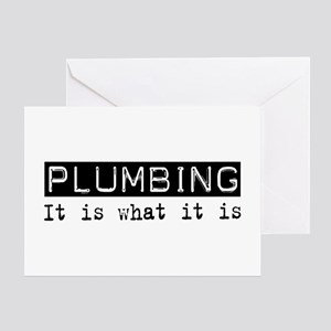 Plumbing Is Greeting Card