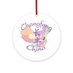 Changfeng China Map Ornament (Round)
