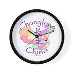 Changfeng China Map Wall Clock