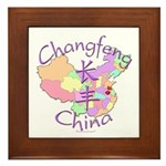 Changfeng China Map Framed Tile