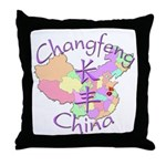 Changfeng China Map Throw Pillow