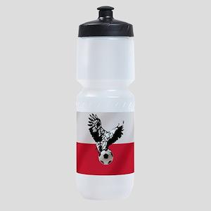 Polish Football Flag Sports Bottle