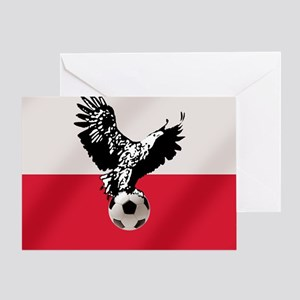 Polish Football Flag Greeting Cards