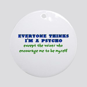 Psycho Voices Ornament (Round)