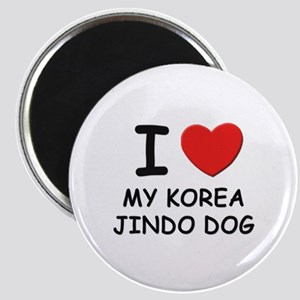 I love MY KOREA JINDO DOG Magnet