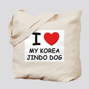 I love MY KOREA JINDO DOG Tote Bag