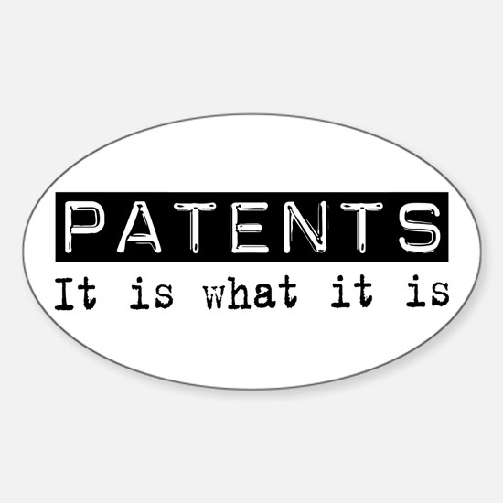Patents Is Oval Decal