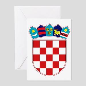 Croatia Hrvatska Emblem Greeting Cards