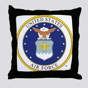 Air Force USAF Emblem Throw Pillow