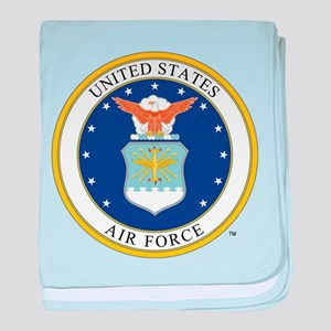Air Force USAF Emblem baby blanket