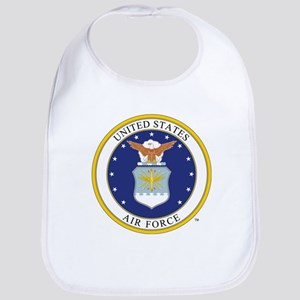 Air Force USAF Emblem Baby Bib
